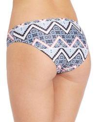 Shoshanna Blue Moroccan Tile Hipster Bikini Bottom