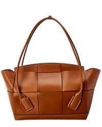 Bottega Veneta Brown Acro Large Leather Tote