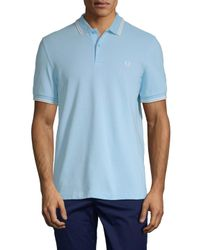 Fred Perry Blue Woven Polo for men