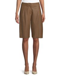 Max Mara Brown Weekend Nuraghe Leather Short