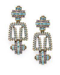 Heidi Daus - Metallic Distinctive Opulence Crystal Drop Earrings - Lyst