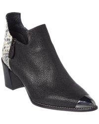Stuart Weitzman Black Shortterm Leather Bootie