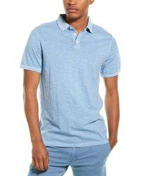Thread & Cloth Blue Slub Polo Shirt for men