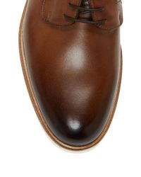 Wall + Water Brown Leather Derby Shoe for men