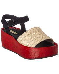 Kenneth Cole Danton (red Multi Fabric) Sandals
