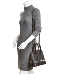 Balenciaga Black Ville Top Handle Small Leather Satchel