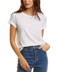 Vince White Rolled Sleeve T-shirt
