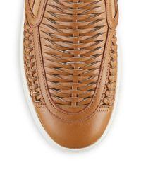 J/Slides Black Cutup Leather Slip-on Sneakers