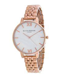 Olivia Burton Metallic Big Dial Watch