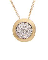Marco Bicego Metallic Jaipur Diamonds 18k 0.25 Ct. Tw. Diamond Pendant Necklace