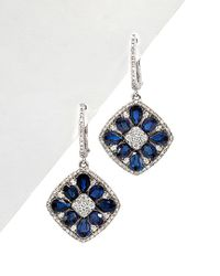 Diana M - . Fine Jewelry 14k 4.51 Ct. Tw. Diamond & Blue Sapphire Drop Earrings - Lyst