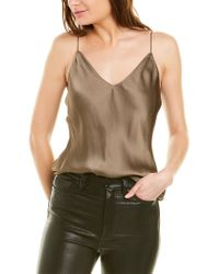 Theory Brown Easy Slip Top