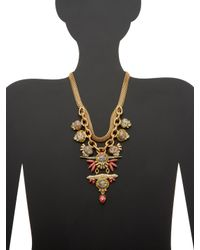 Elizabeth Cole - Metallic Victoria Pyrite Statement Necklace - Lyst