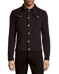 ELEVEN PARIS Blue Janos Solid Cotton-blend Jacket for men