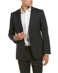 Z Zegna Blue Wool Suit With Flat Front Pant for men