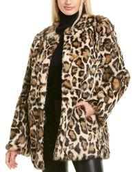 Adrienne Landau Brown Printed Jacket