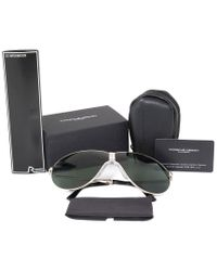 Porsche Design Multicolor Design Heritage P8480 A 66 Unbreakable Foldable Sunglasses For Men   Light Gold Titanium Frame   Green Mi