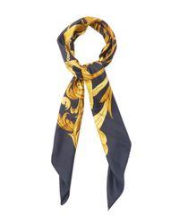 Hermès Black Vintage Silk Conetable Scarf 90