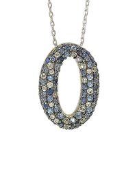 Suzy Levian - Metallic Silver 1.00 Ct. Tw. Sapphire Necklace - Lyst