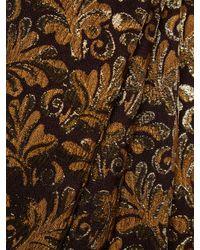 Prada Metallic Jacquard Cropped Pant