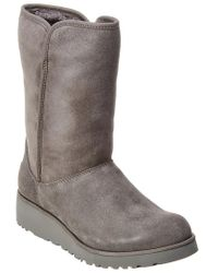Ugg Gray Women's Amie Water-resistant Twinface Sheepskin Suede Boot