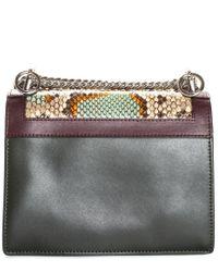 Fendi Multicolor Leather Small Kan I Bag