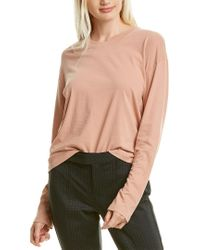 James Perse Pink Boxy T-shirt