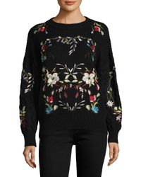 Haute Rogue - Black Lariat Embroidered Sweater - Lyst