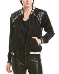 Greylin Black Reversible Lace Bomber Jacket