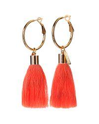 Mignonne Gavigan Red 18k Plated Earrings