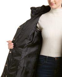 Tahari - Black Sia Fitted Puffer Coat - Lyst