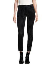 Hudson Black Nico Striped Cotton Jeans