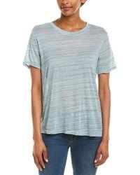 Splendid Blue Burnout T-shirt