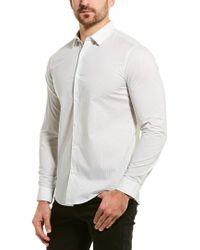Theory White Murrary Woven Shirt for men