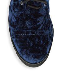 Donald J Pliner Blue Camren Combat Boot