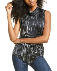 Go> By Go Silk Black Go By Go>silk Twisted Silk Top