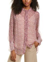 Stella McCartney Purple Lelia Silk Shirt