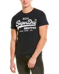 Superdry Black Graphic T-shirt for men