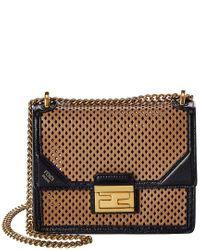 Fendi Multicolor Kan U Small Leather Shoulder Bag