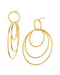 Gorjana - Metallic Wilshire 18k Gold Plated Layered Circle Drop Earrings - Lyst
