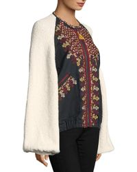 Free People Multicolor Two Faced Embroidered Jacket