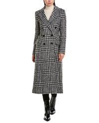 Karen Millen Gray Wool-blend Coat