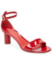 Ferragamo - Red Patent Leather Sandal - Lyst