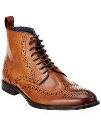 Gordon Rush Brown Leather Boot for men
