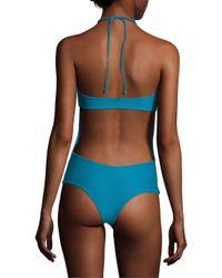 Mikoh Swimwear - Blue Moorea Woven Halter One Piece - Lyst