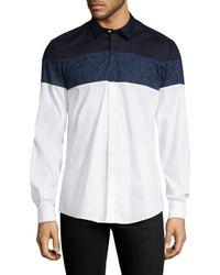 Antony Morato White Botanical Cotton Sportshirt for men
