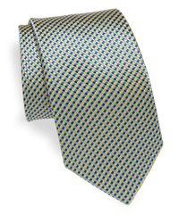Saks Fifth Avenue | Blue Tricolor Silk Tie for Men | Lyst
