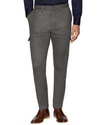 J.Lindeberg Gray Loro Piana Mod Trousers for men