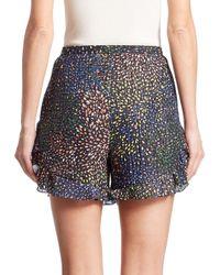 Chloé Multicolor Ruffled Lurex Shorts