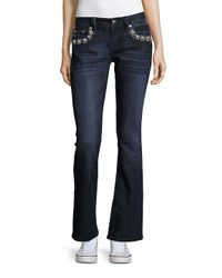 Miss Me Blue Embellished Bootcut Jeans